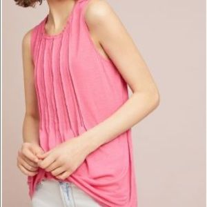 Anthropologie Pintucked Top - Size Small - Pink